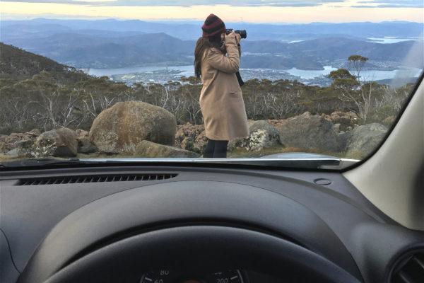 Mount Wellington Tasmania car driving