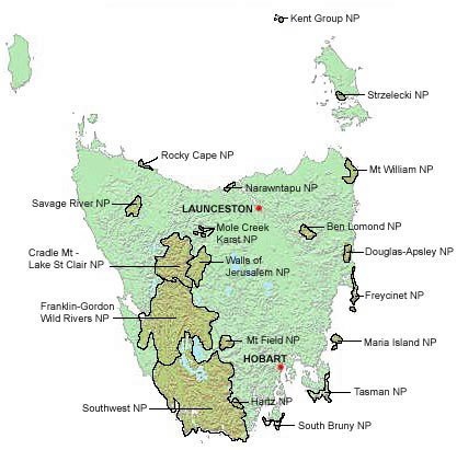 tasmania road trip national parks itinerary
