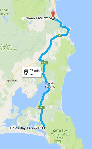 bicheno tasmania road trip itinerary