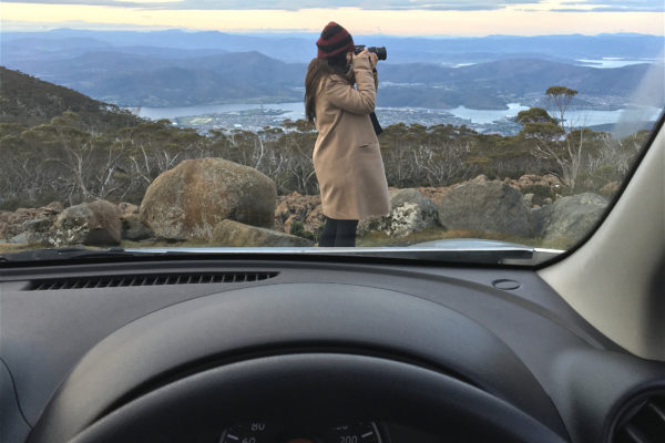 Mount Wellington Tasmania car driving