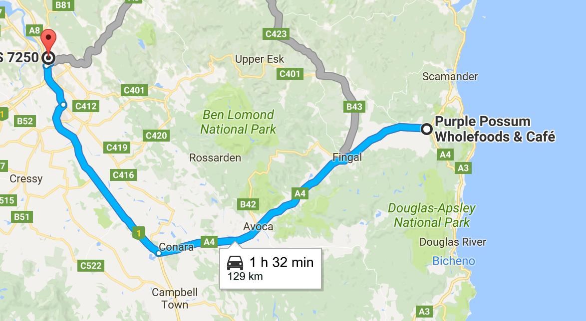 launceston tasmania map